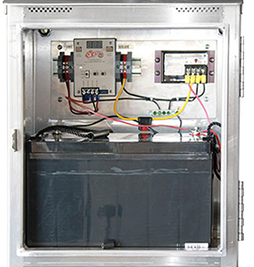 Solar Pump, Panel, and Control Box Open